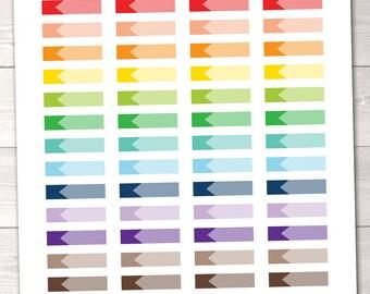 ON SALE Ombre Labels Instant Download Printable Planner Sticker PDF