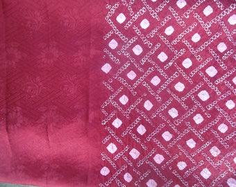 Half Shibori Red Geometric