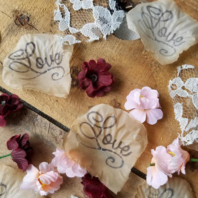 Wine Blush Wedding Rose Petals Confetti Flower Girl DIY