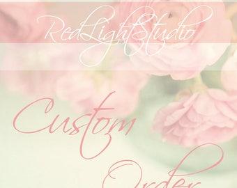 Custom Order Wedding Cake Topper - For CindyZMomof3