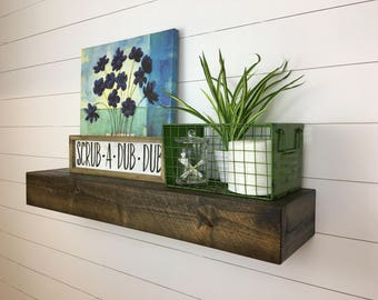 Modern Rustic Deep Floating Shelves // Floating Shelves // Floating Shelf // Deep Floating Shelves // Floating shelves //  Deep Shelves