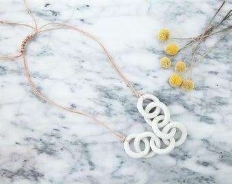 ceramic chain necklace