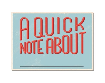 A Quick Note About... - Set of 12 Political Action Postcards - Write and Send to Congress and Elected Officials