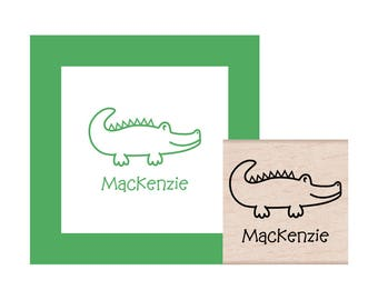 Alligator Personalized Rubber Stamp