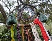 Boho Decor, Dreamcatcher, Dream Catcher, Hippie Decor, Shabby Decor, Hippie Spirit, Hippie home, Hippie Decor, Recycled fabric, freespirit
