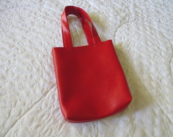 Little Girls Red Purse / Polk- A -Dot Lining / Faux Leather Purse / Free US Shipping / BootsandBelle