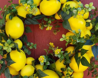 Lemon Blossom Wreath....Little Lemon Wreath