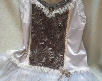 36% OFF Closet Cleaning TUNIC Top Cami Whimsical Romantic Fairyland Boho - Tunic - Gray and Ivory