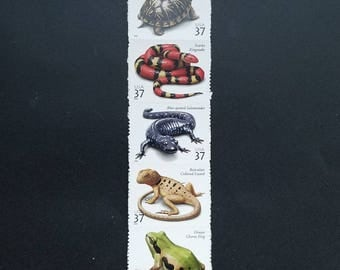 Unused US postage stamps - Amphibians and Reptiles, 37 cent, a set of 5 stamps