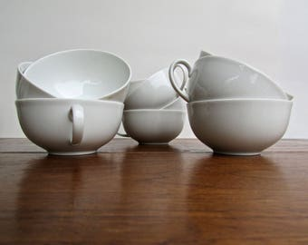 Jean Luce Arzberg Teacups, 10 Available, Vintage Modern German Porcelain