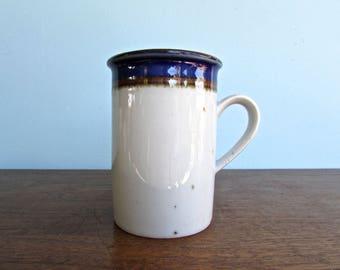 Niels Refsgaard Dansk Tall Blue Umber Vintage Mug, Made in Denmark, Danish Modern Stoneware