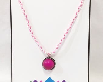 Pink Gem Pendant Necklace - Free Shipping in the US