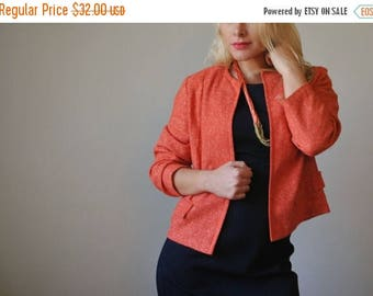 ON SALE 1960s Tangelo Fleck Jacket~Size Small to Medium