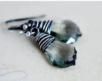 Crystal Earrings, Swarovski Crystal, Crystal Jewelry, Dangle Earrings, Drop Earrings, Sterling Silver, Swarovski Jewelry,