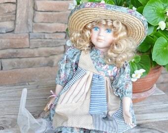 Collectible Porcelain Garden Doll