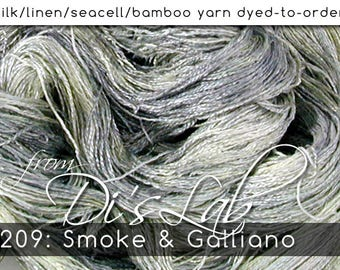 From the Lab - DtO 209: Smoke & Galliano on Silk/Linen/Seacell/Bamboo Yarn Custom Dyed-to-Order