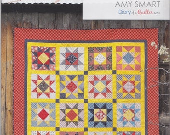 Amy Smart (Diary of a Quilter) Gingham Girl Stars Quilt Pattern