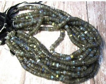 SALE 20% Off Fiery Labradorite ROndelle Beads 7mm, LOTS of Colorful Flash, 6mm 7mm Tire Labradorite Beads ,