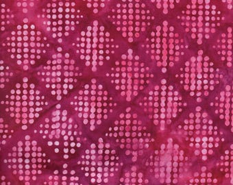 Pink Over The Rainbow Batik 100% Cotton Quilting Fabric