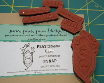 Unity Stamp Company, rubber stamp set, Peas Peas Peas, adult stamps, sassy stamps, oh snap stamp, peapod stamp, cute stamps