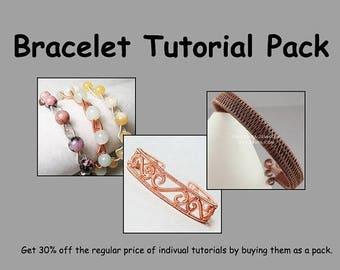 Sale, 15% Off - Bracelet Tutorial Pack - Wire Jewelry Tutorials - Save 30 Percent