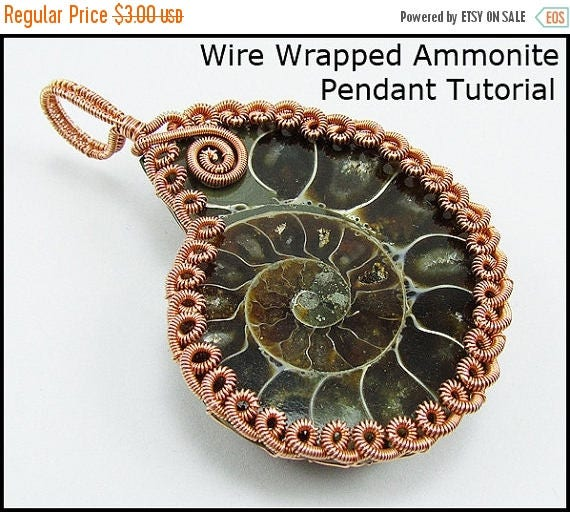 SALE - Wire Wrapped Ammonite Pendant Tutorial