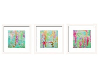Watercolor Abstract Art Print Set, Gallery Wall Art Set, Set of 3 Prints, Abstract Wall Art, Giclee Prints Interior Design Abstract Painting