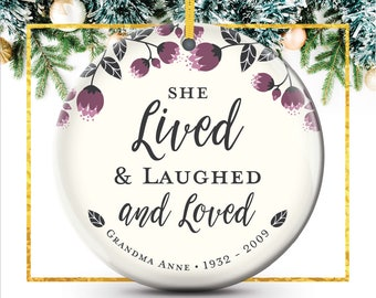 Personalized Ornament, Memorial Gifts, In Memory Of Grandma, Mom, Remembrance Ornament, Sympathy Gift, Christmas Ornaments // C-P115-OR ZZ2
