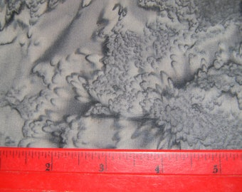 Gray Cotton Batik Fabric