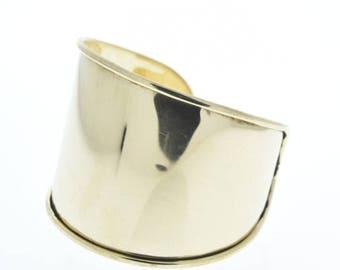 Cuff Bracelet for Embellishment, Channel for adding art or other media , 2 inch tapered sold by each J869G