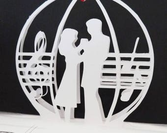 Dancing Couple -Favorite Song Pop-Up Card - Design #1551 A7