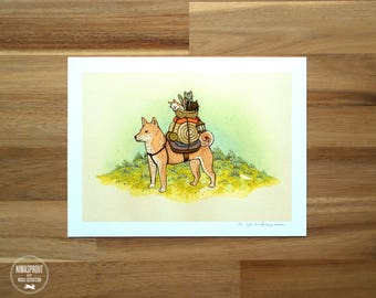 Shiba Inu (RED) Adventure Pup - Fine Art Print by Nicole Gustafsson