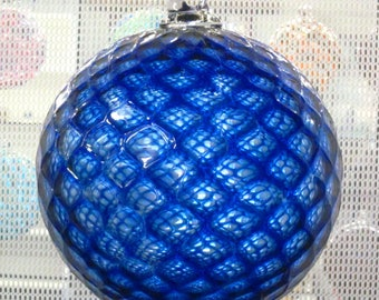 LARGE Handblown Glass Ornament