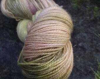 Reserved Handpainted sock yarn, fingering yarn, Superwash Merino Sparkle-Auri