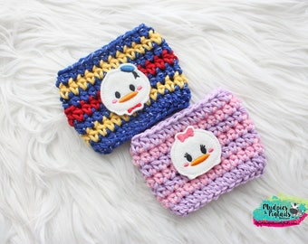 Duck Coffee Cup Cozy { Donald & Daisy }  tsum tsum inspired, park essential summer, mug sweater starbucks cup birthday