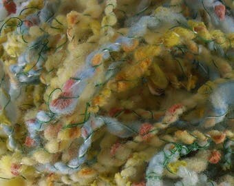 Mésange Bleue: handspun art yarn