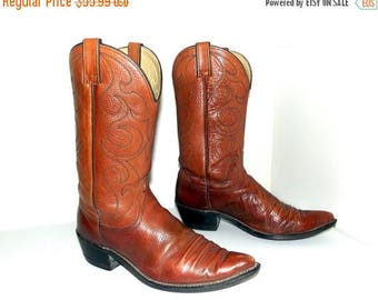 Vintage Wrangler brand brown western Cowboy boots size 9 d or cowgirl size 10.5