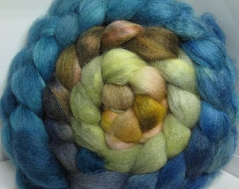 BFL/Cashmere/Tussah 50/25/25 Roving Combed Top - 5oz - Storm Dust to Clouds 1