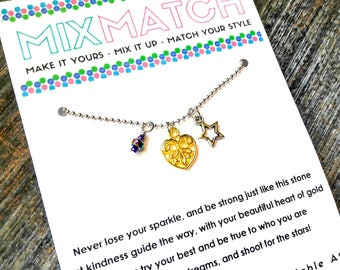 MIX MATCH - Signature Charm Necklace With Original Poem