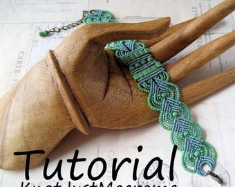 Introductory Special: Micro Macrame Tutorial - Leaves - Bracelet Pattern - Beaded Macrame - Jewelry Making - DIY