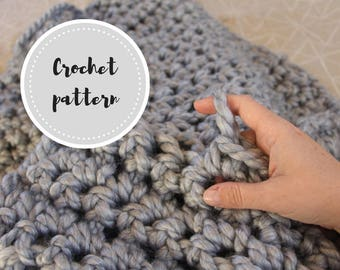 Finger crochet blanket PDF pattern
