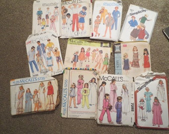 11 sewing patterns / toddler patterns / childs patterns / girls patterns / boys patterns / Simplicity / Butterick / McCalls /vintage