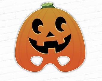 halloween mask printable mask happy pumpkin costume jack