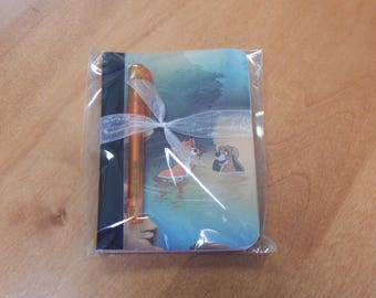 Up cycled MINI Composition Book Disney Fox and the Hound