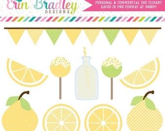 80% OFF SALE Lemons and Lemonade Clipart Graphics Commercial Use Digital Clip Art