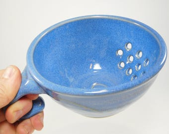 Berry Bowl Sink - Drainer Dish - Pottery Colander - Colander - Strainer - Berry Colander - Ceramic Strainer - Berry Basket - In Stock