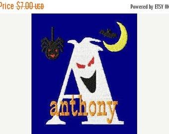 SALE 65% OFF Halloween Ghost Spider Moon Bat Machine Embroidery Monogram Fonts Designs Instant Download Sale
