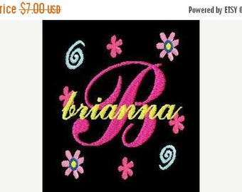SALE 65% OFF Girl Script Monogram Fonts Machine Embroidery Designs Set Instant Download Sale