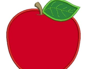 SALE 65% OFF Applique Apple School Fall Teacher Machine Embroidery Designs - 4x4 and 5x7 - Instant Download Sale