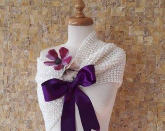 Wedding accessories, wedding shawl, bridal accessories, bridal shawl, knitting shawl, knitted shawl, womens shawl, weddings REREADY TO SHIP